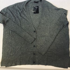 ATM Oversized Cardigan Sweater Gray Long Sleeve